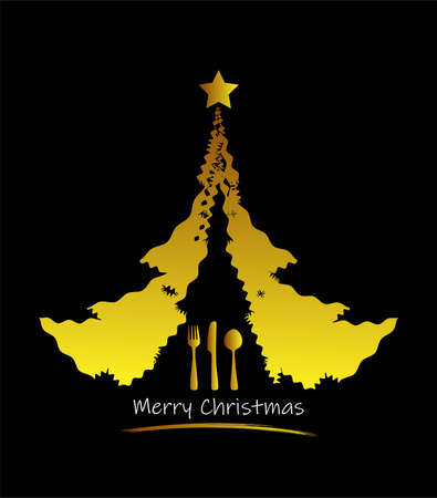 vector symbolic christmas image menu