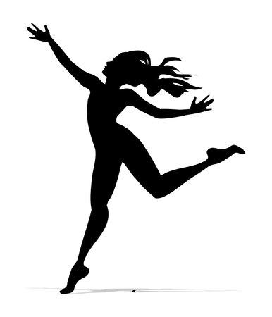 vector dancer silhouette in white background