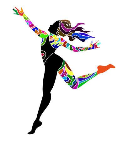 dancer on white background