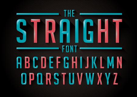 Vector of retro stylized font and alphabet Иллюстрация