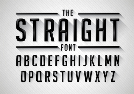 typo: Vector of retro stylized font and alphabet Illustration