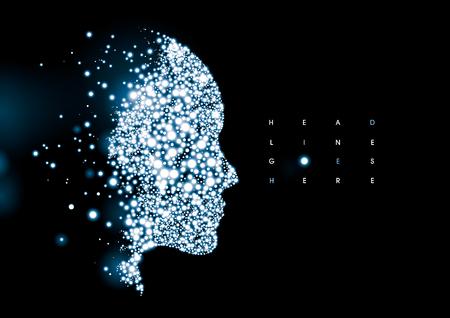 Vectorial de la moderna silueta humana estilizada cibernético y el elemento
