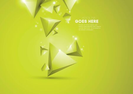 Vector of modern geometric triangular element and background Illustration