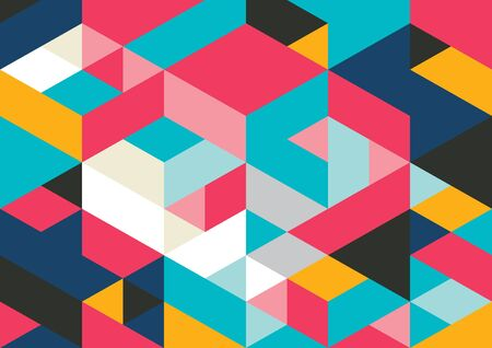 Vector of modern geometric pattern and background