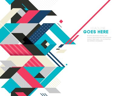 Vector of modern abstract geometric background Illustration