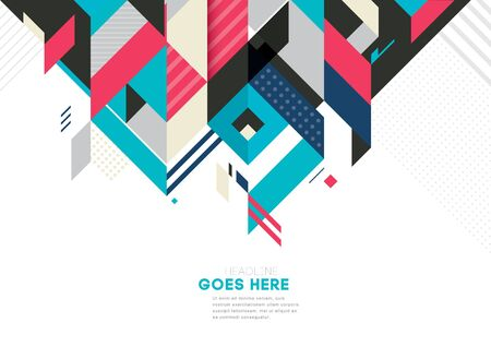 sleek: Vector of modern abstract geometric background Illustration