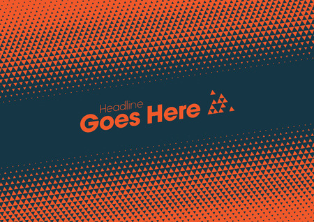 Vector of modern halftone element and background