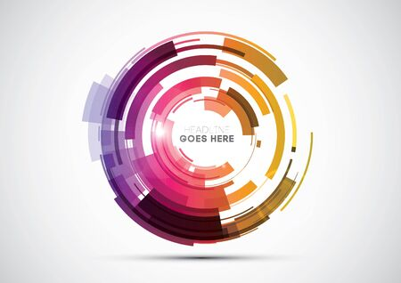 sleek: Vector of modern abstract circle element and background