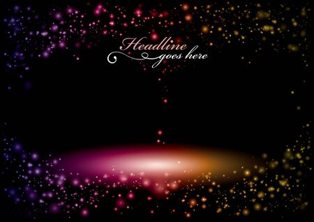 Vector of sparkle of light and glitter background Illustration
