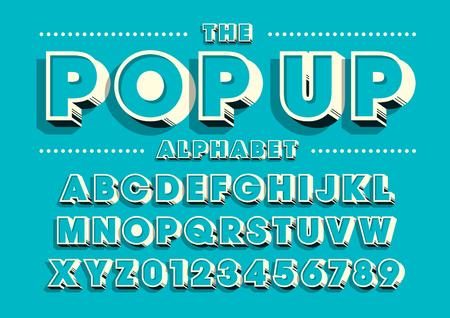 Vecteur de police et d'alphabet modernes audacieux