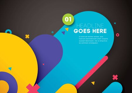 Vector of modern abstract layout and background. Illustration