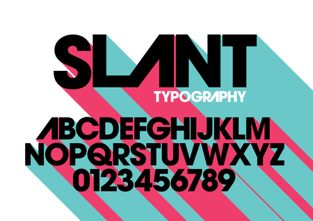sleek: Vector of modern stylized font and alphabet