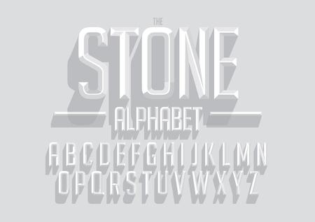 太字のベクトルは、フォントやアルファベットをエンボスします。  イラスト・ベクター素材