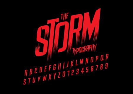 Vector van wilde gestileerde lettertype en alfabet Stock Illustratie