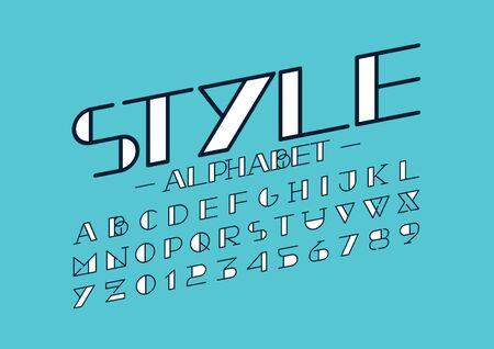 モダンな様式化されたフォントやアルファベットのベクトル  イラスト・ベクター素材