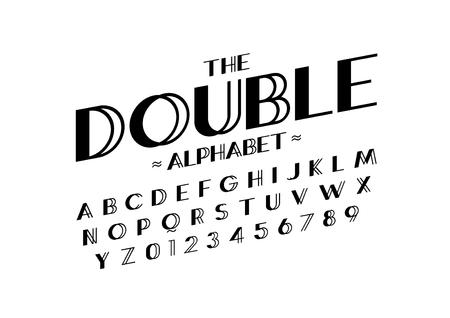 현대 추상 글꼴 및 알파벳 벡터입니다. 일러스트