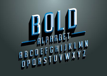 様式化された大胆なフォントやアルファベットのベクトル  イラスト・ベクター素材