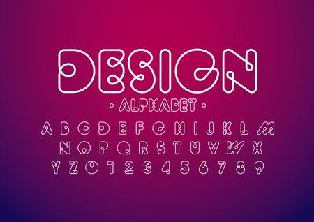 モダンな抽象のフォントやアルファベットのベクトル