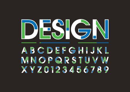 モダンな大胆なフォントやアルファベットのベクトル