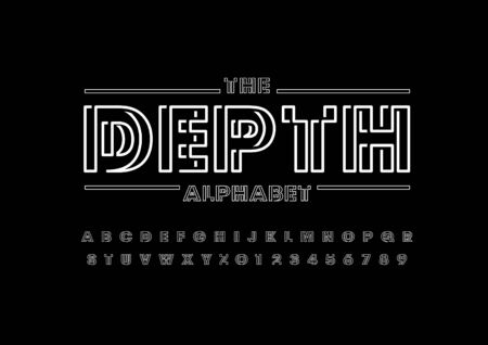 Out of focus font - The Depth alphabet