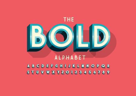 현대 대담한 글꼴 및 알파벳의 벡터 스톡 콘텐츠 - 95968011