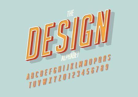 Stylized bold font and alphabet letter illustrations.