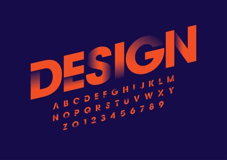Vector van modern gewaagd lettertype en alfabet
