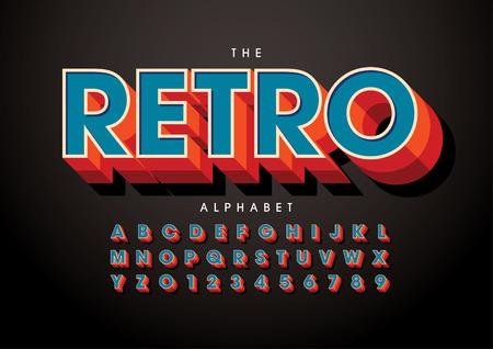 Vector of stylized modern font and alphabet Vektorové ilustrace