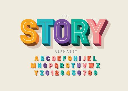 Vektor der stilisierten modernen Schrift und des Alphabets