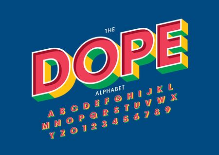 text dope of stylized modern font and alphabet