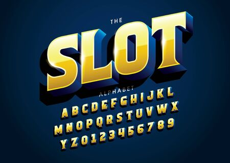 text slot of stylized modern font and alphabet