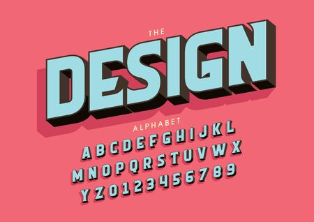 text design of stylized modern font and alphabet
