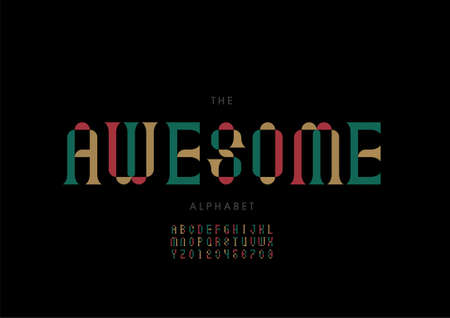 Vector of stylized awesome alphabet and font