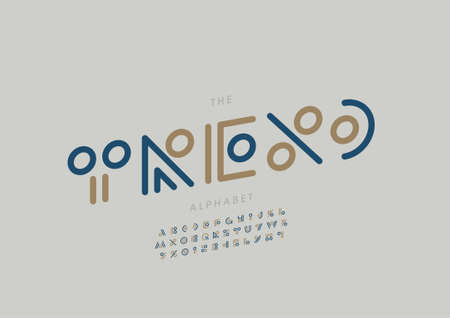 Vector of stylized trend alphabet and font