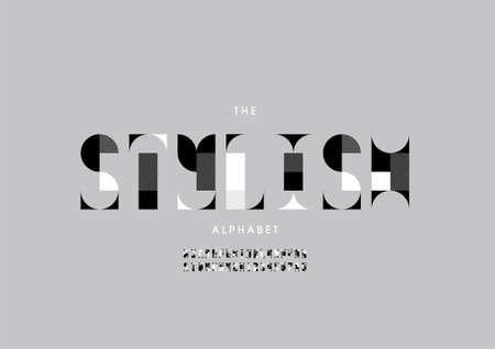 Vector of stylized stylish alphabet and font
