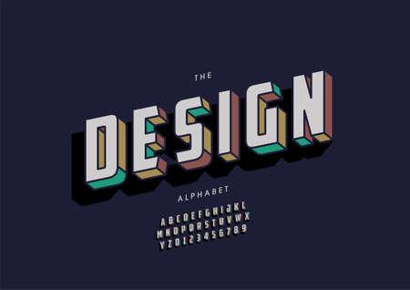 Vector of stylized design alphabet and font Иллюстрация