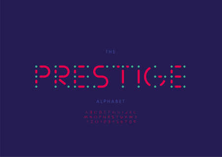 Vector of stylized prestige alphabet and font
