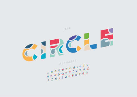Vector of stylized circle alphabet and font