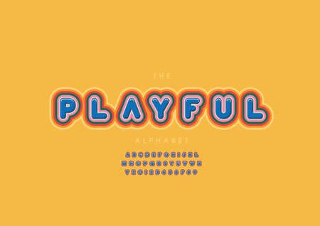 Vector of stylized playful alphabet and font