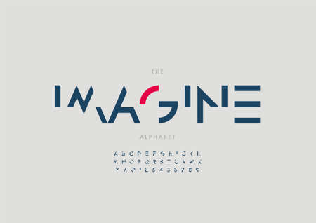 Vector of stylized imagine alphabet and font Иллюстрация