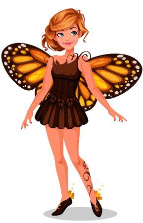 Beautiful monarch butterfly fairy