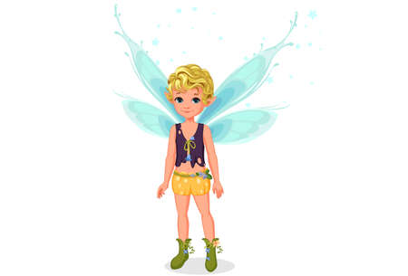 Little cute boy fairy standing