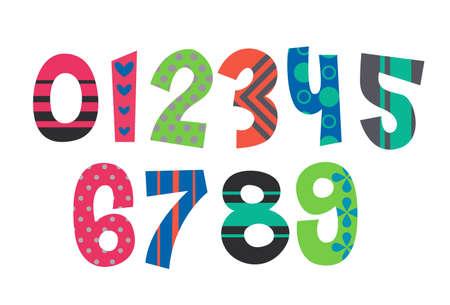 Designer alphabet numbers