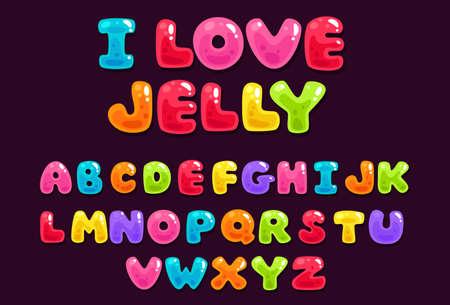 Jelly colorful alphabets Ilustracje wektorowe