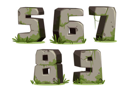 Jungle font numbers part 2