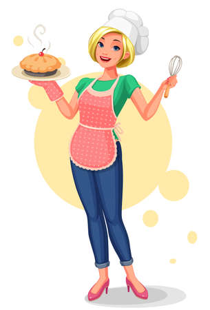 Beautiful Chief house wife vector illustration