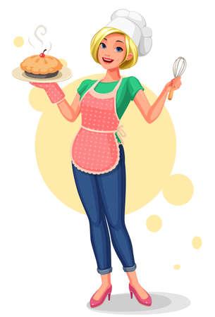 Beautiful Chief house wife vector illustration Illustration