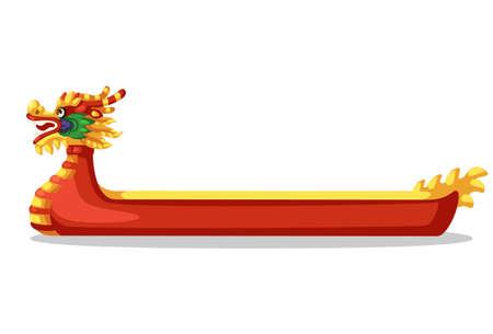 Dragon Ship Red vector illustration