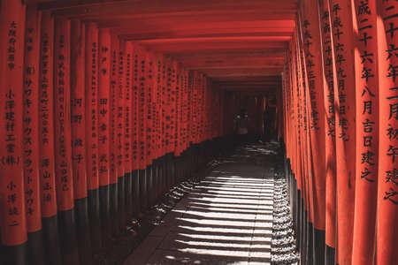 The red gates of the Fushimi Inari Shrine