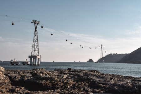 Busan South Korea Songdo Beach Song Marine Cable Car